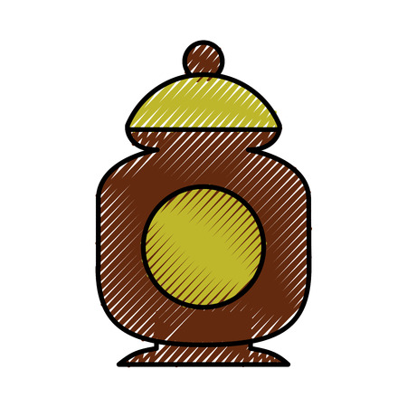 sugar pot isolated icon vector illustration design Illustration