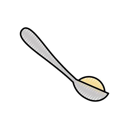 Löffel mit Zucker Pulver Vektor-Illustration Design Standard-Bild - 81847622