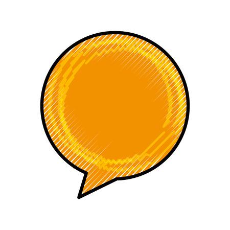 音声バブル メッセージ アイコン ベクトル イラスト デザイン