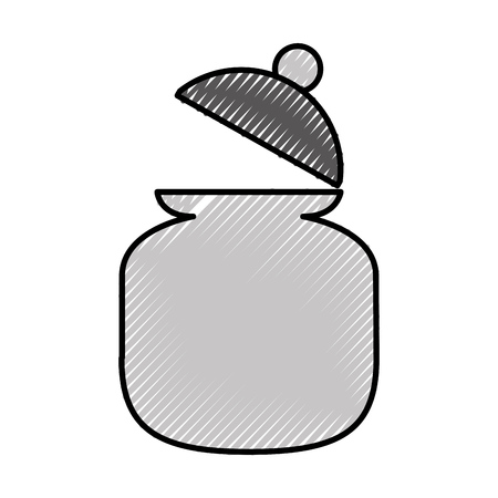 suikerpot geïsoleerd pictogram vector illustratieontwerp