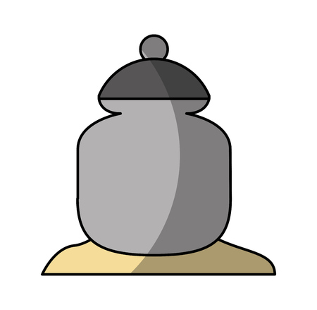 sugar pot isolated icon vector illustration design Reklamní fotografie - 81847551