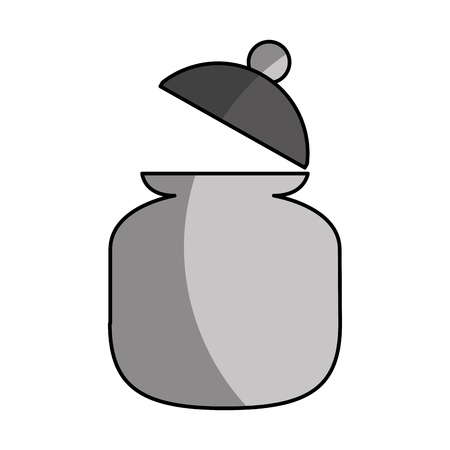 sugar pot isolated icon vector illustration design Illusztráció