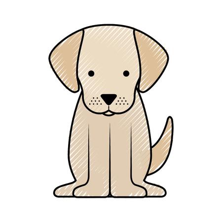 Chien mignon conception mascotte icône vecteur illustration Banque d'images - 81849157