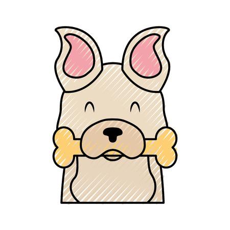 Mascotte de chien mignon avec os vector illustration design Banque d'images - 81849200