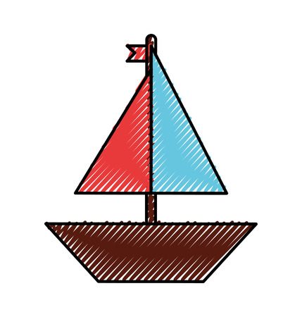 sail boat isolated icon vector illustration design Ilustracja