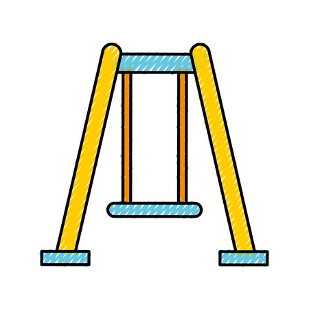 A park swing isolated icon vector illustration design. Çizim
