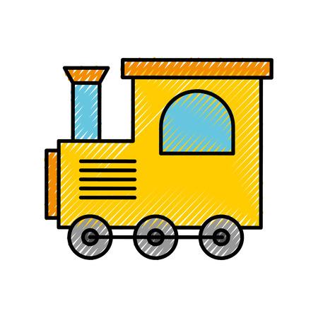 Tren juguete aislado icono vector ilustración diseño Foto de archivo - 81849304