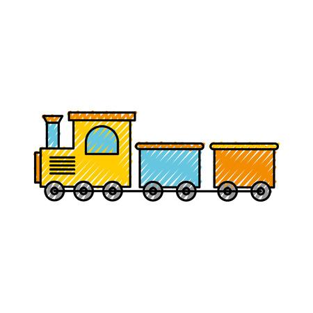 Trein speelgoed geïsoleerd pictogram vector illustratie ontwerp Vector Illustratie