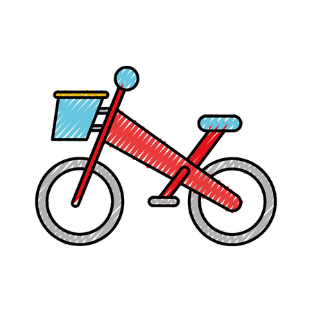 Bicycle Mountain Isolated Icon Vector Illustration Design Royalty