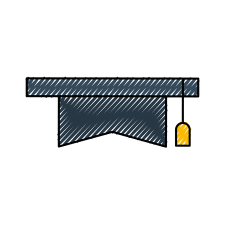 帽子分離卒業アイコン ベクトル イラスト デザイン