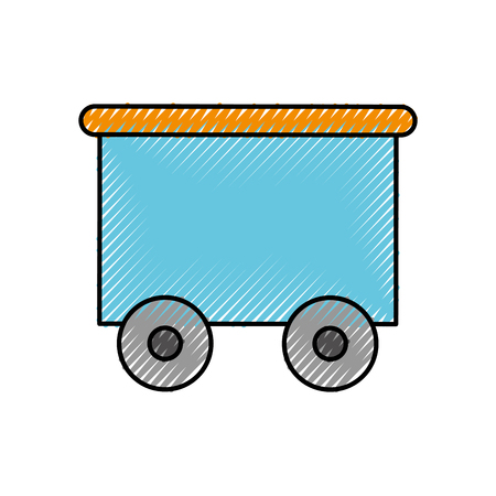 train wagon toy isolated icon vector illustration design Stock Vector - 81849354