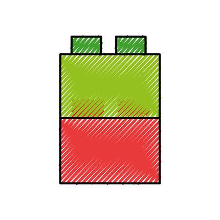 おもちゃのブロック構造アイコン ベクトル イラスト デザイン。  イラスト・ベクター素材