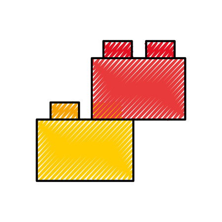 toy blocks structure icon vector illustration design