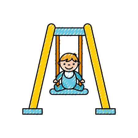 park swing isolated icon vector illustration design