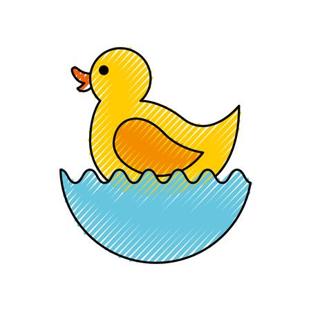 Illustrazione di illustrazione vettoriale icona del giocattolo di anatra di gomma Archivio Fotografico - 81974083