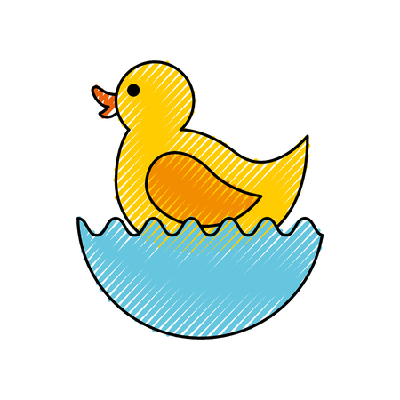 rubber duck toy icon vector illustration design Imagens - 81974083