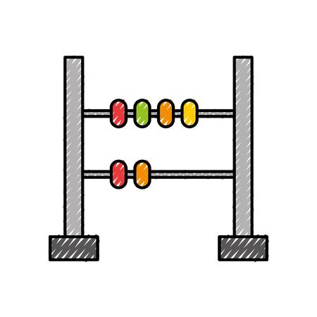 Een ontwerp van de het pictogram vectorillustratie van de wiskunde telraam geïsoleerd pictogram.