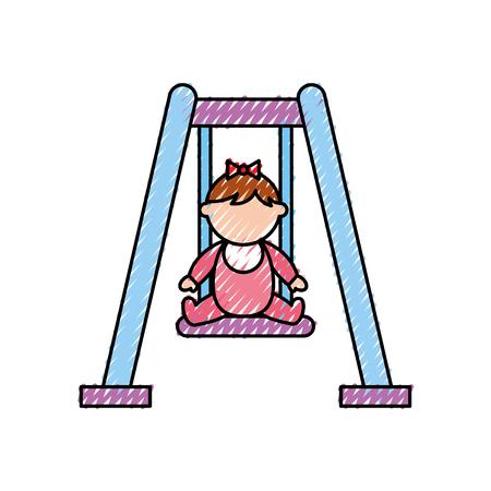 park swing isolated icon vector illustration design Stok Fotoğraf - 81849416