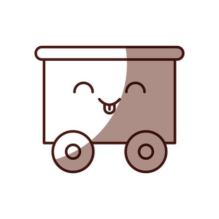 train wagon toy kawaii character vector illustration design Illustration