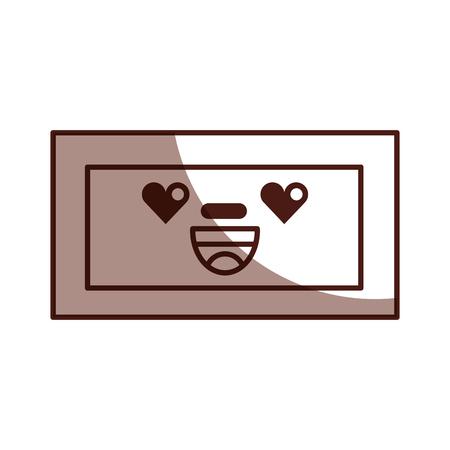 wooden drawer kawaii character vector illustration design