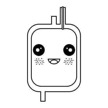 donate blood bag kawaii character vector illustration design Illustration