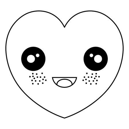 심장 심장학 절연 아이콘 벡터 일러스트 디자인 스톡 콘텐츠 - 82002341