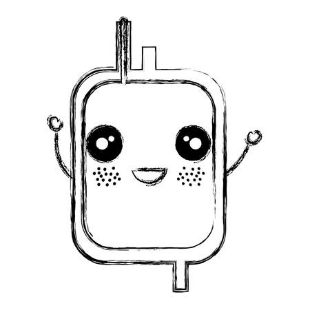 donate blood bag character vector illustration design Illustration