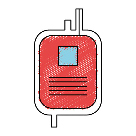 donate blood bag isolated icon vector illustration design