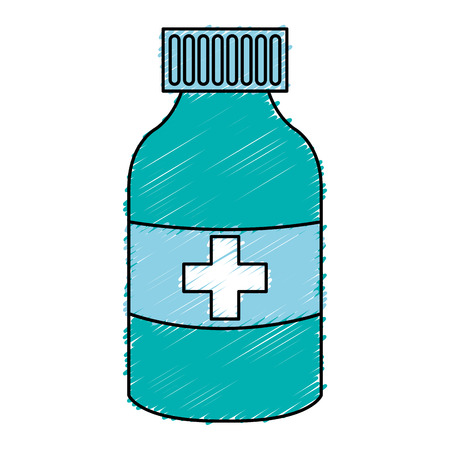 prescription bottles: bottle drugs isolated icon vector illustration design