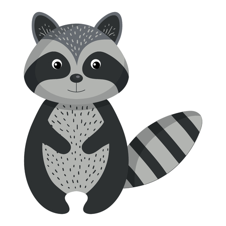 cute and tender raccoon vector illustration design Illustration