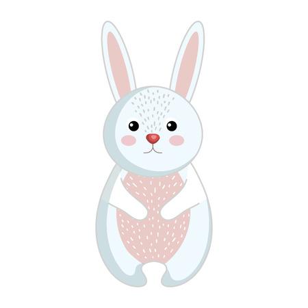 귀 엽 고 부드러운 토끼 벡터 그림 디자인입니다. 일러스트