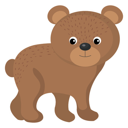 A cute and tender bear vector illustration design.