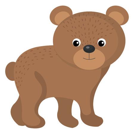 A cute and tender bear vector illustration design.