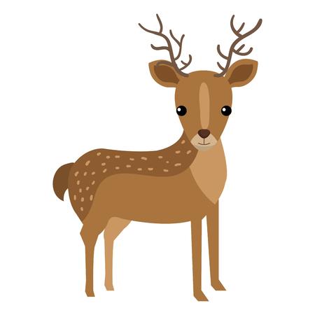 A cute and tender reindeer vector illustration design. Illustration