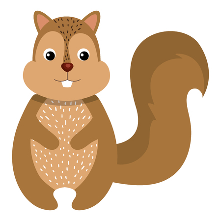 cute and tender chipmunk vector illustration design Illustration
