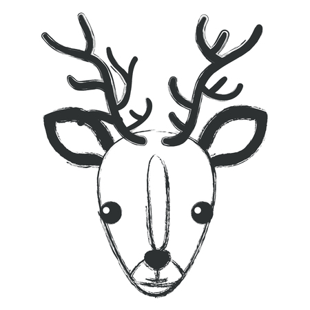 cuteness: cute and tender reindeer vector illustration design