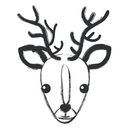 cute and tender reindeer vector illustration design