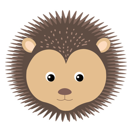 cuteness: cute and tender Porcupine vector illustration design