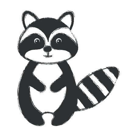 cuteness: cute and tender raccoon vector illustration design Illustration
