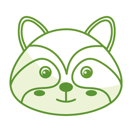 raccoon: cute and tender raccoon vector illustration design Illustration