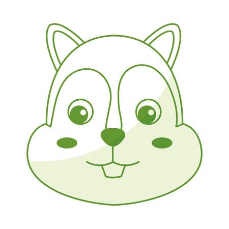 cute and tender chipmunk vector illustration design Illustration