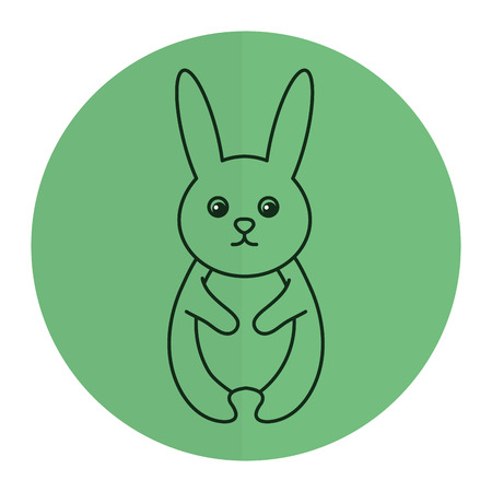 귀엽고 부드러운 토끼