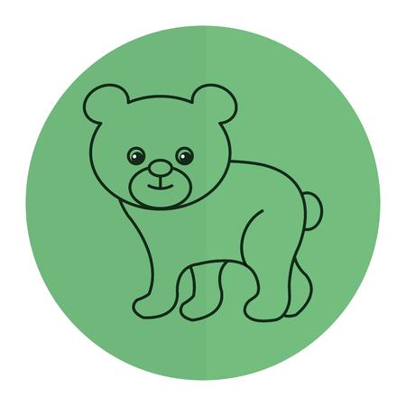 귀엽고 부드러운 곰