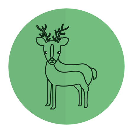Cute and tender reindeer Stock Vector - 82026777