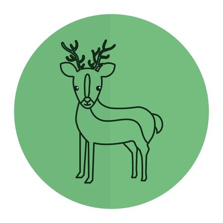 Cute and tender reindeer Illustration