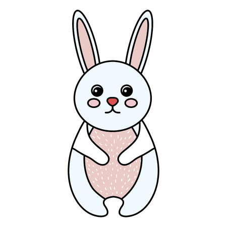 cuteness: cute and tender rabbit vector illustration design