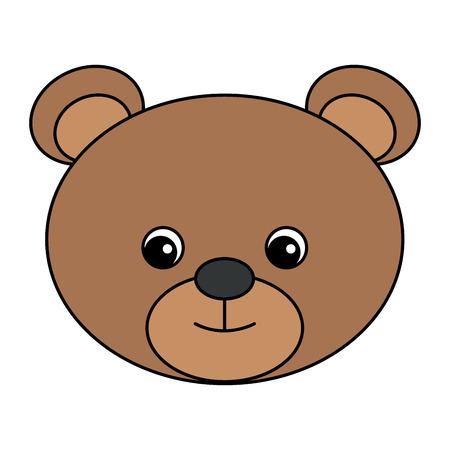 cute and tender bear vector illustration design