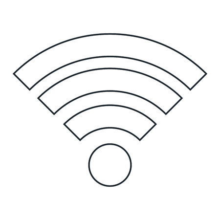 A wifi signal isolated icon vector illustration design. Illusztráció