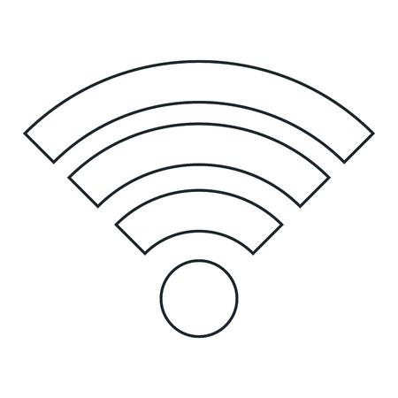 Wifi 信号アイコン ベクトル イラスト デザインを分離しました。