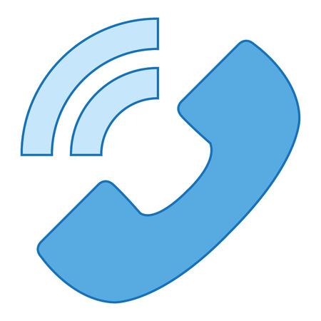 電話サービスは、アイコン ベクトル イラスト デザインを分離しました。